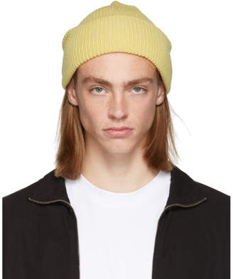 LHomme Rouge Yellow Worker Hat Beanie