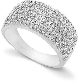 Macy's Pave Diamond Ring in Sterling Silver (1/2 ct. t.w.)