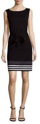 St. John Three-Tone Print Dress