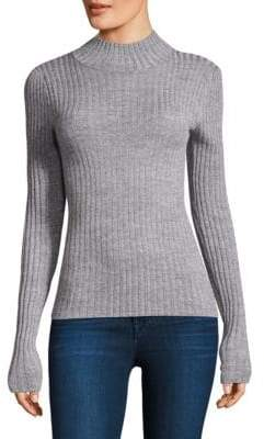 Rebecca Taylor Lurex Ribbed Sweater