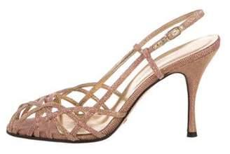 37f51e67bdee Dolce   Gabbana Slingback Strap Women s Sandals - ShopStyle