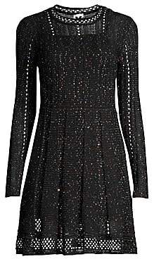M Missoni Women's Sparkle Long-Sleeve Knit A-Line Dress