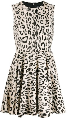 Dolce & Gabbana leopard print mini dress