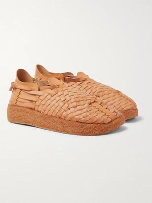 Malibu - Latigo Woven Faux Leather Sandals - Men - Brown