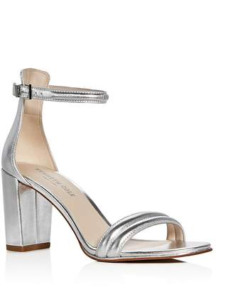 Kenneth Cole Lex Metallic Ankle Strap High Heel Sandals $130 thestylecure.com