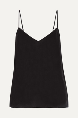Equipment - Layla Washed-silk Camisole - Black $100 thestylecure.com
