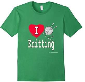 I Love Knitting Shirt Ball of Yarn Heart
