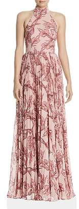 Fame & Partners Zora Pleated Floral Gown