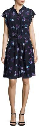 Rebecca Taylor Women's Silk Bellflower Shirtdress