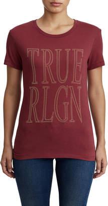 True Religion WOMENS BIG TRUE LOGO TEE