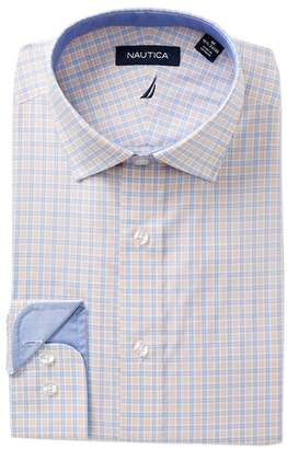 Nautica Coral Check Classic Fit Dress Shirt