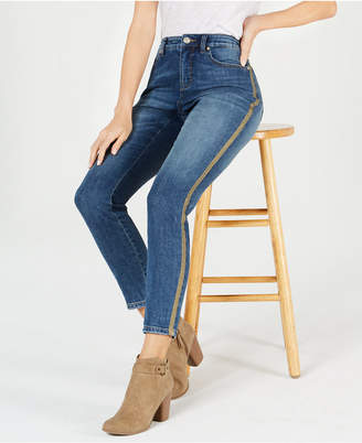 Style&Co. Style & Co Gold-Striped Curvy-Fit Skinny Jeans