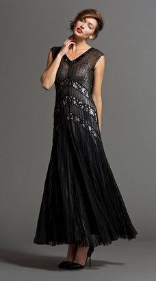 Long Dress W/ Lace Insert $628 thestylecure.com