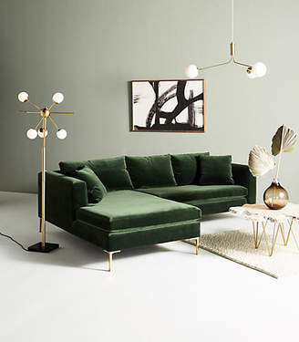 Anthropologie Edlyn Petite Two-Piece Chaise Sectional