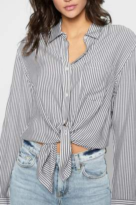 7 For All Mankind Striped High Low-Tie