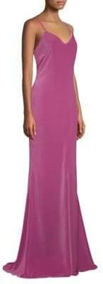 Max Mara Caladio Velvet A-Line Gown