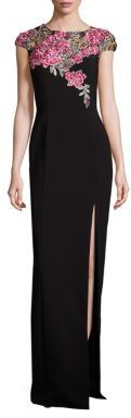 Theia Embroidered Column Gown $995 thestylecure.com