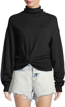 Alexander Wang Double Layered Knotted Turtleneck Sweater
