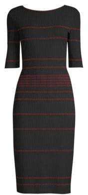 St. John Rib-Knit Bodycon Dress