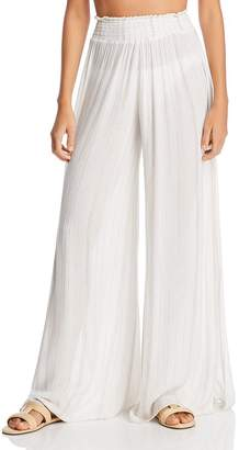 Ramy Brook Athena Metallic Stripe Swim Cover-Up Pants