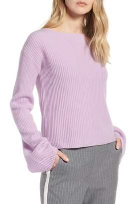 Halogen Bell Sleeve Cashmere Sweater
