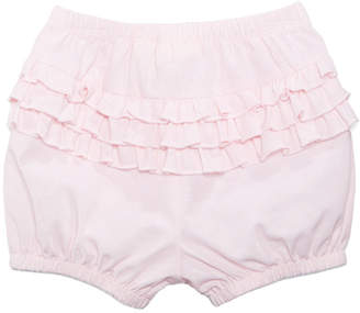 First Impressions Chambray Ruffled Cotton Bloomer Shorts, Baby Girls, Created for Macy's
