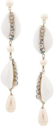 Etro shell drop earrings