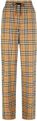 Burberry Haymarket Check Drawstring Trousers