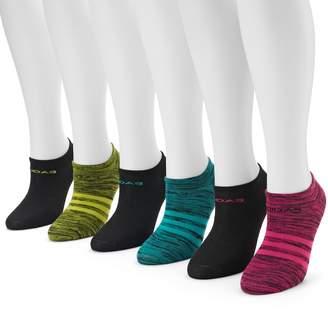 adidas Women's 6-pk. Striped Neon No-Show Socks