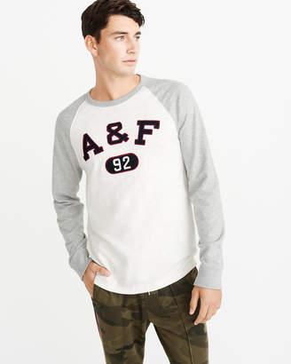 Abercrombie & Fitch Applique Logo Raglan Tee