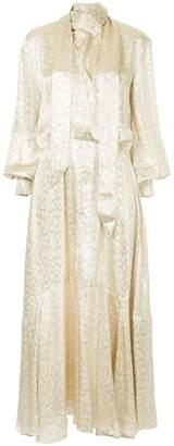 Layeur empire line metallic dress