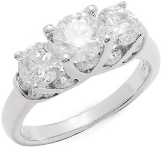 Saks Fifth Avenue Women's 3.0 TCW Diamond & 14K White Gold Ring