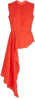 DELPOZO Asymmetrical Peplum Shirt