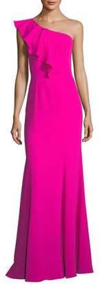 Jay Godfrey Osgood Ruffle One-Shoulder Gown