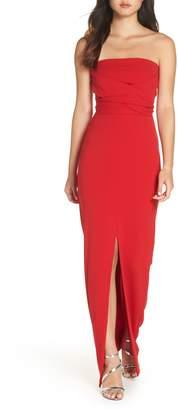 LuLu*s Own the Night Strapless Maxi Dress