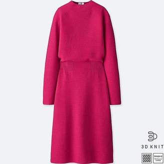 Uniqlo Women's U 3d Wool Mock Neck Long-sleeve Dress