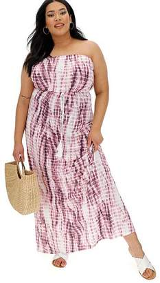 196c82402e92 Purple Tie Dye Bandeau Maxi Dress
