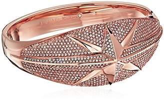 Michael Kors Brilliance Starburst Pave -Tone Statement Hinge Bracelet