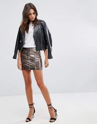 Blank NYC Metallic Mini Skirt