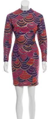 Chloé Printed Silk Mini Dress