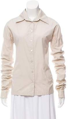 Gucci Long Sleeve Button-Up Blouse