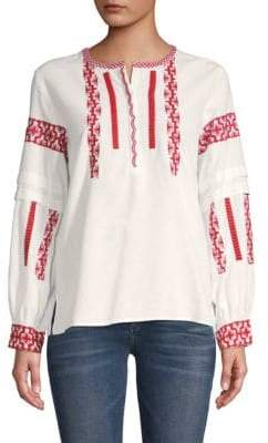 Club Monaco Vandary Embroidered Blouse