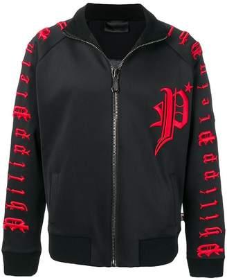 Philipp Plein embroidered track jacket