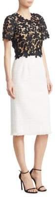 Oscar de la Renta Crochet Day Dress