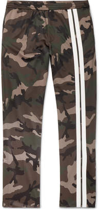 Valentino Striped Camouflage-Print Jersey Drawstring Trousers