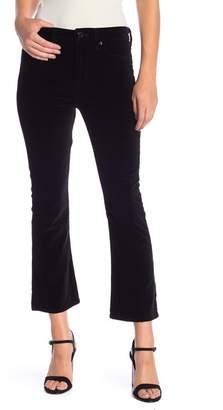 Hudson Brix Velvet High Waist Crop Bootcut Pants