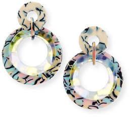 Lele Sadoughi Tortoiseshell Acetate Hoop Earrings
