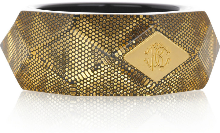 Roberto Cavalli Wide faceted cuff