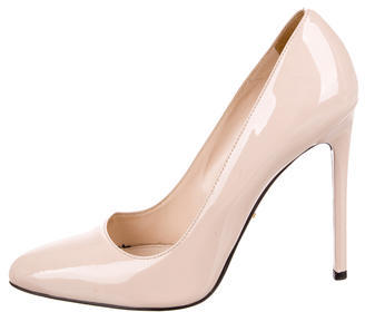 prada Prada Patent Pointed-Toe Pumps