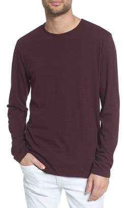 Vince Stripe Long Sleeve Crewneck T-Shirt